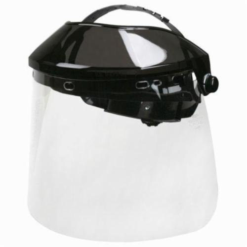 U.S. Safety™ 482000HAM Matrix® Faceshield Headgear With Visor, Black Frame, Polycarbonate Glass, Ratchet Adjustment