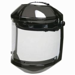 U.S. Safety™ 4830440 Double Matrix® Faceshield Headgear Combo Unit, Black Frame, Leatherette Sweatband/Polycarbonate, Ratchet Adjustment