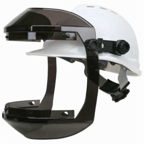 U.S. Safety™ 483CAP Double Matrix® With Hard Hat AttachmentCap, Gray Frame, Polycarbonate Glass, For Use With Slotted Hard Hats, Ratchet Adjustment