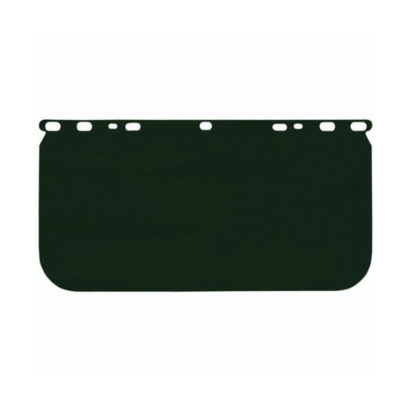 U.S. Safety™ 485420 Single Matrix® Faceshield Visor, Green, Acetate, 8 in H x 15-1/2 in W x 0.04 in THK Visor, Specifications Met: ANSI Z87+, CSA Z94.3