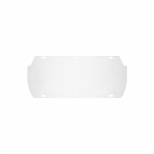 U.S. Safety™ 494700 Double Matrix Replacement Window, Clear, Polycarbonate, 7 in H x 16-3/4 in W x 0.4 in THK Visor, For Use With Double Matrix Faceshields, Specifications Met: ANSI Z87.1, CSA Z94.3