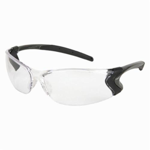 U.S. Safety™ BD110PF Backdraft® Premium Dielectric Single Lens Safety Glasses, MAX6™ Anti-Fog, Clear Lens, Frameless Frame, Gunmetal Gray, Nylon Frame, Polycarbonate Lens, ANSI Z87+