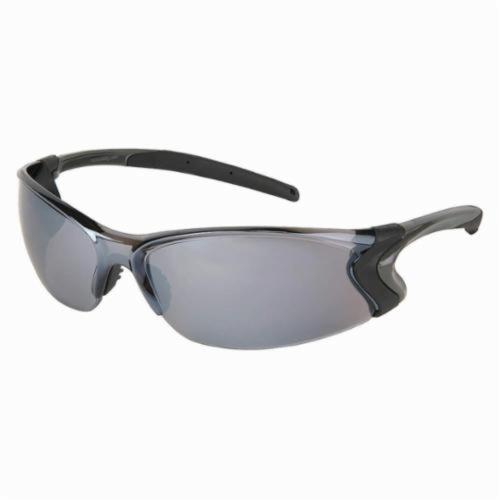 U.S. Safety™ BD117 Backdraft® Premium Dielectric Single Lens Safety Glasses, BossMan™ Mirror Duramass® HC Silver Mirror Lens, Frameless Gunmetal Gray Nylon Frame, Polycarbonate Lens, Specifications Met: ANSI Z87+