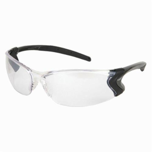 U.S. Safety™ BD119 Backdraft® Premium Dielectric Single Lens Safety Glasses, BossMan™ Mirror Duramass® HC Indoor/Outdoor Clear Mirror Lens, Frameless Gunmetal Gray Nylon Frame, Polycarbonate Lens, Specifications Met: ANSI Z87+