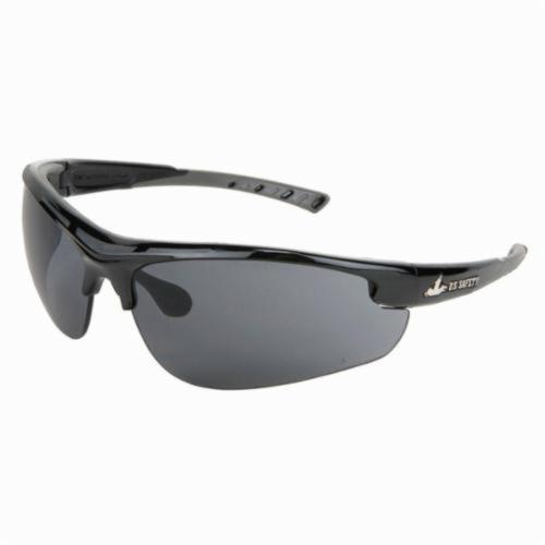 U.S. Safety™ DM1212PF Dominator™ DM2 Premium Dual Lens Safety Glasses, MAX6™ Anti-Fog Gray Lens, Black Polycarbonate Frame, Specifications Met: ANSI Z87+