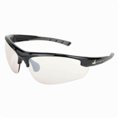 U.S. Safety™ DM1219 Dominator™ DM2 Premium Dual Lens Safety Glasses, BossMan™ Mirror Duramass® HC Indoor/Outdoor Clear Mirror Lens, Black Polycarbonate Frame, Specifications Met: ANSI Z87+