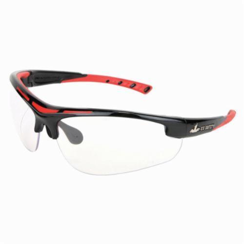 U.S. Safety™ DM1220PF Dominator™ DM2 Premium Dual Lens Safety Glasses, MAX6™ Anti-Fog, Clear Lens, Black, Polycarbonate Frame, ANSI Z87+