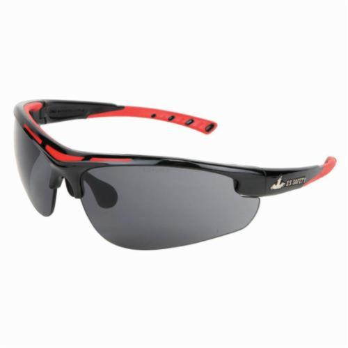 U.S. Safety™ DM1222P Dominator™ DM2 Premium Dual Lens Safety Glasses, MAX3™ Hard Coat, Gray Lens, Black, Polycarbonate Frame, ANSI Z87+
