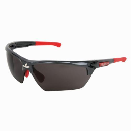 U.S. Safety™ DM1312PF Dominator™ DM3 Premium Dual Lens Safety Glasses, MAX6™ Anti-Fog Gray Lens, Gunmetal Polycarbonate Frame, Specifications Met: ANSI Z87+, MIL-PRF-31013
