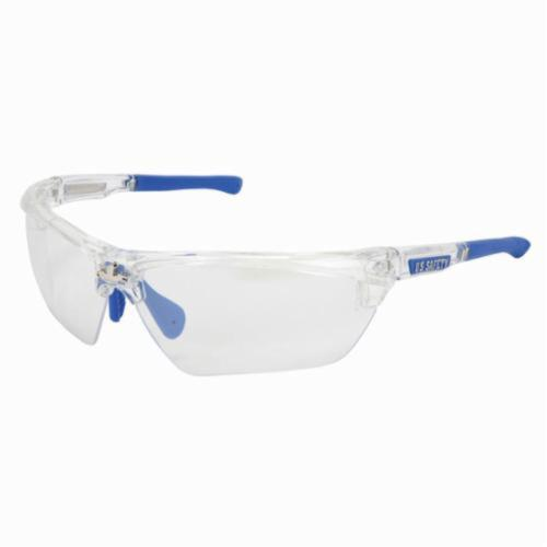 U.S. Safety™ DM1329 Dominator™ DM3 Premium Dual Lens Safety Glasses, BossMan™ Mirror Duramass® HC Indoor/Outdoor Clear Mirror Lens, Clear Polycarbonate Frame, Specifications Met: ANSI Z87+, MIL-PRF-31013