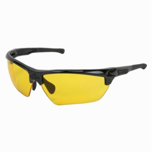 U.S. Safety™ DM1334PF Dominator™ DM3 Premium Dual Lens Safety Glasses, MAX6™ Anti-Fog, Amber Lens, Black, Polycarbonate Frame, ANSI Z87+, MIL-PRF-31013