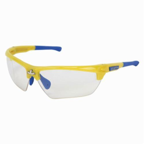 U.S. Safety™ DM1340PF Dominator™ DM3 Premium Dual Lens Safety Glasses, MAX6™ Anti-Fog Clear Lens, Yellow Polycarbonate Frame, Specifications Met: ANSI Z87+, MIL-PRF-31013