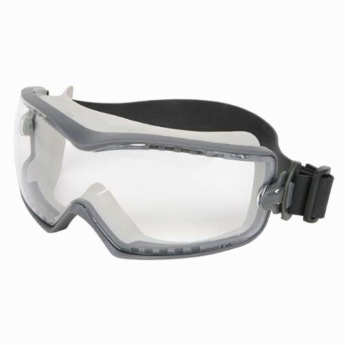 U.S. Safety™ HB1220PF Indirect Vented Scratch Resistant Protective Goggles, MAX6™ Anti-Fog Clear, 99.9 % UV Protection, Rubber Strap, ANSI Z87+