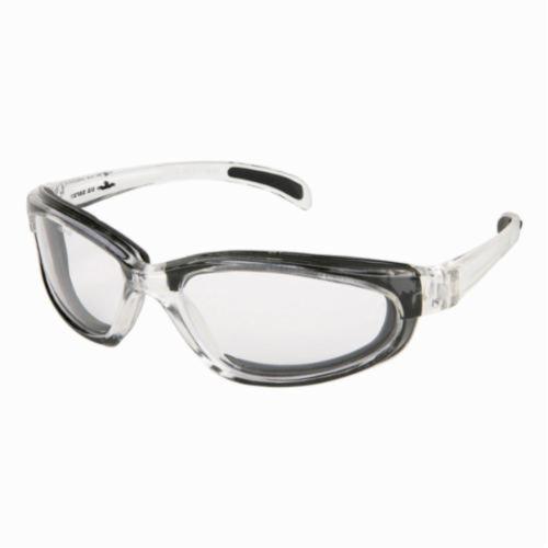 U.S. Safety™ PN120AF Pantera® PN1 Dual Lens Safety Glasses, Duramass® Anti-Fog, Clear Lens, Full Framed Frame, Clear, Nylon Frame, Polycarbonate Lens, ANSI Z87+