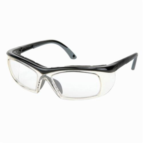 U.S. Safety™ PN1310PF Pantera® Dual Lens Safety Glasses, MAX6™ Anti-Fog Clear Lens, Black Polycarbonate Frame, Specifications Met: ANSI Z87+