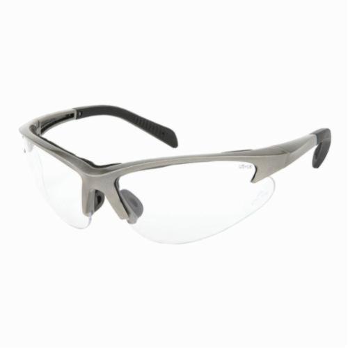 U.S. Safety™ SO110 Solaris® Premium Safety Glasses, Duramass® Hard Coat Clear Lens, Slate Nylon Frame, Specifications Met: ANSI Z87+