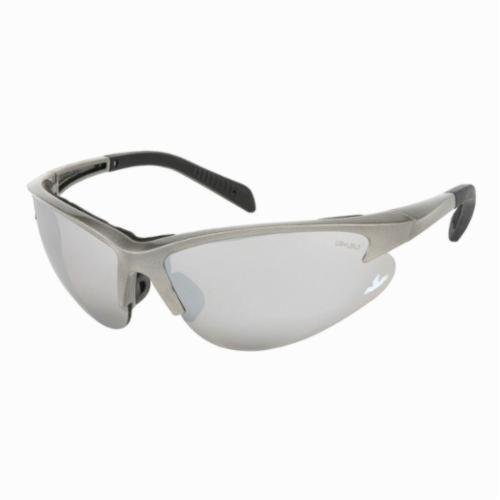 U.S. Safety™ SO117 Solaris® Premium Safety Glasses, Duramass® Hard Coat Silver Mirror Lens, Slate Nylon Frame, Specifications Met: ANSI Z87+