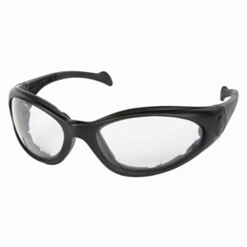 U.S. Safety™ SVH20AF Sand Viper Premium Indirect Vented Safety Glasses With Elastic Strap, Duramass® Anti-Fog, Clear Lens, Black, Polycarbonate Frame, ANSI Z87+