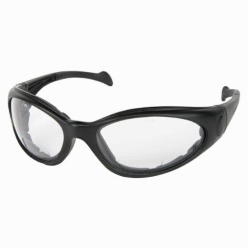 U.S. Safety™ SVH25AF Sand Viper Premium Indirect Vented Safety Glasses With Elastic Strap, Duramass® Anti-Fog, Clear Lens, Black, Polycarbonate Frame, ANSI Z87+