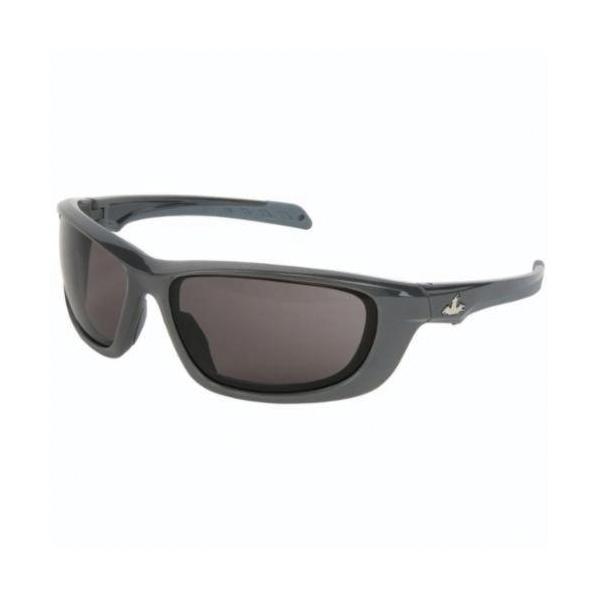 U.S. Safety™ UD112PF USS Defense UD1 Premium Dual Lens Safety Glasses, MAX6™ Anti-Fog Gray Lens, Gunmetal Polycarbonate Frame, Specifications Met: ANSI Z87+, MIL-PRF-31013