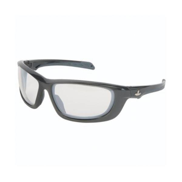 U.S. Safety™ UD119 USS Defense UD1 Premium Dual Lens Safety Glasses, BossMan™ Mirror Duramass® HC, Indoor/Outdoor Clear Mirror Lens, Gunmetal, Polycarbonate Frame, ANSI Z87+, MIL-PRF-31013