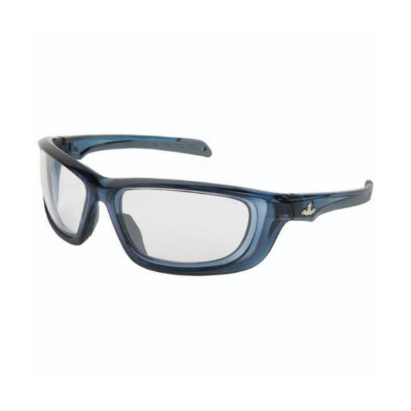 U.S. Safety™ UD120P USS Defense UD1 Premium Dual Lens Safety Glasses, MAX3™ Hard Coat Clear Lens, Translucent Dark Blue Polycarbonate Frame, Specifications Met: ANSI Z87+, MIL-PRF-31013
