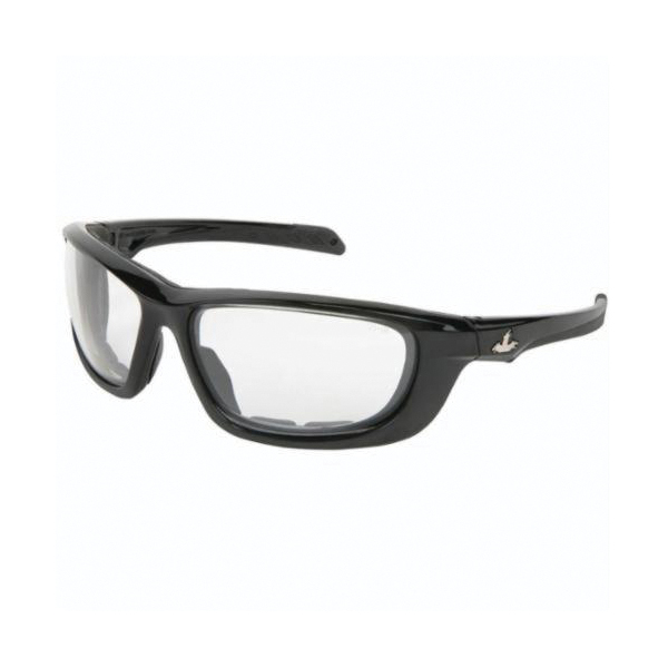 U.S. Safety™ UD210PF USS Defense UD2 Premium Dual Lens Safety Glasses, MAX6™ Anti-Fog Clear Lens, Black Polycarbonate Frame, Specifications Met: ANSI Z87+, MIL-PRF-31013