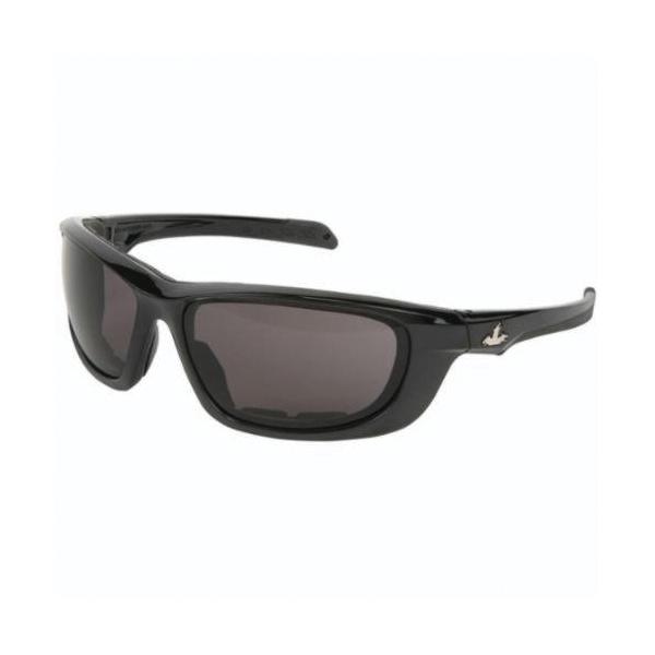 U.S. Safety™ UD212PF USS Defense UD2 Premium Dual Lens Safety Glasses, MAX6™ Anti-Fog, Gray Lens, Black, Polycarbonate Frame, ANSI Z87+, MIL-PRF-31013
