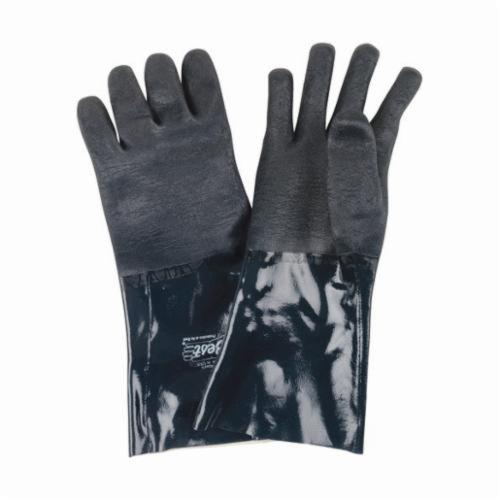 Ultraflex®II 3414 Lightweight Chemical Resistant Gloves, Neoprene, Blue, Cotton Interlock Wrist Lining, 14 in L, Resists: Abrasion and Chemical, Unsupported Support, Gauntlet Cuff, 10 ga THK