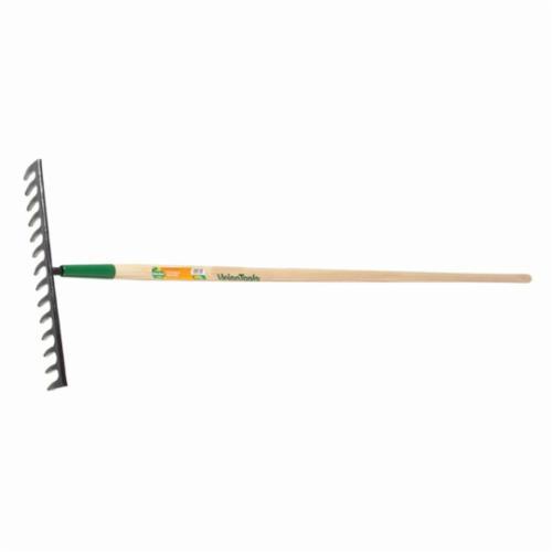 UnionTools® 63110 Medium Duty Level Rake, 14 Tines, Forged Steel, Hardwood Handle
