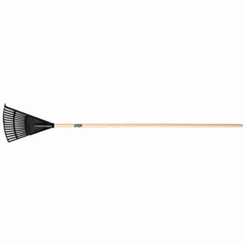 UnionTools® 64197 Shrub Rake, Polyethylene, Hardwood Handle