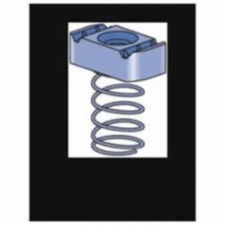 Unistrut® P1008-EG Channel Spring Nut, For Use With P1000, P1100, P2000, P3000 Series 1-5/8 in Channel, 3/8-16 Thread, Steel