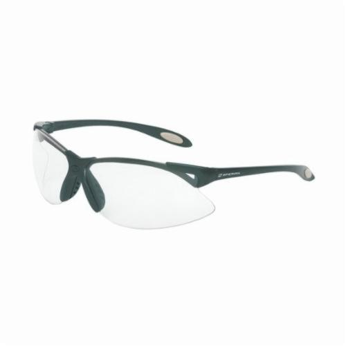 Sperian® by Honeywell A900 Dual Lens Safety Eyewear, Anti-Scratch/Hard Coat Clear Lens, Wraparound Black Polycarbonate Frame, Polycarbonate Lens, Specifications Met: ANSI Z87.1-2010, CSA Z94.3