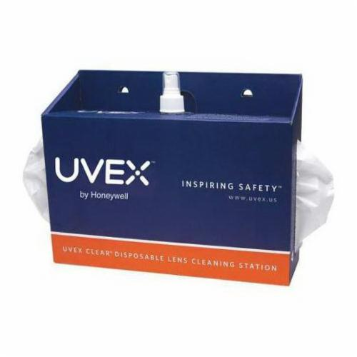 Uvex® by Honeywell S467 Disposable Lens Cleaning Station, Non-Silicone Solution, Countertop/Wall Mount