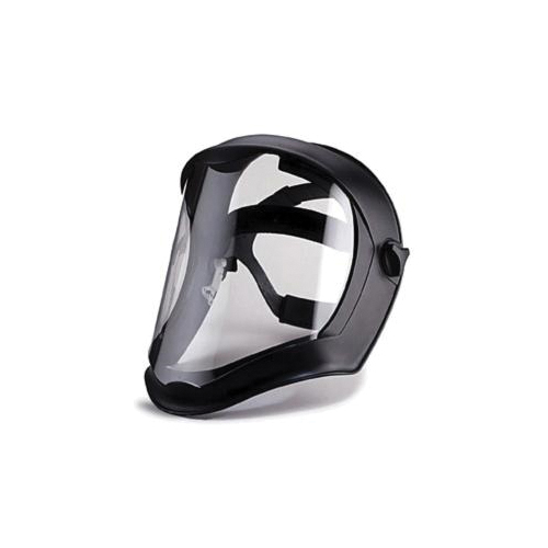 Uvex® by Honeywell S8505 Bionic® Faceshield With Hard Hat Adapter, 1 mm THK, Clear, Polycarbonate Glass