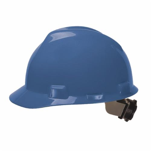 V-Gard® 475359 Front Brim Hard Hat, SZ 6-1/2 Fits Mini Hat, SZ 8 Fits Max Hat, Polyethylene, 4-Point Fas-Trac® III Suspension, ANSI Electrical Class Rating: Class E, ANSI Impact Rating: Type I, Ratchet Adjustment
