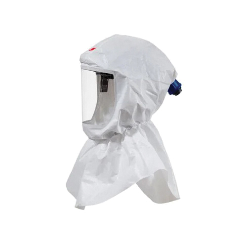 Versaflo™ 051131-17093 S Series Hood Assembly, Standard, For Use With 3M™ Powered Air Purifying and Supplied Air Respirator Systems, White