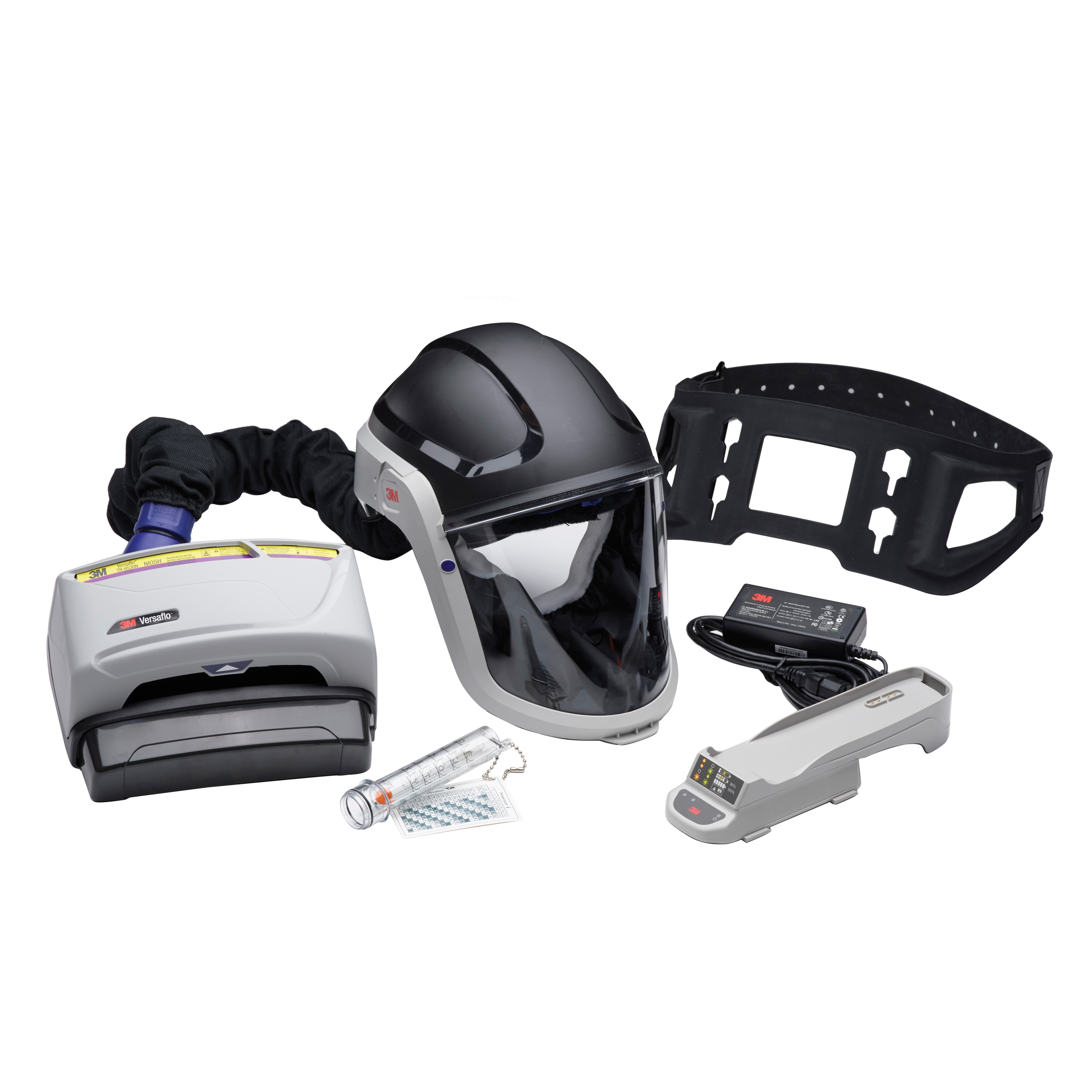 3M™ Versaflo™ 051131-37374 TR-600 Heavy Industry PAPR Kit, Universal, High Capacity Rechargeable Lithium-Ion Battery, Specifications Met: NIOSH Approved