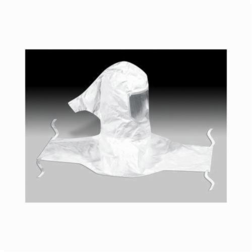 3M™ Versaflo™ 051138-76551 H Series Sealed Seam Hood Assembly, Standard, For Use With 3M™ Belt Mounted Powered Air Purifying and Supplied Air Respirator Systems, White