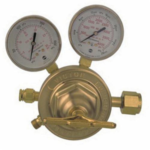 Victor® by ESAB® 0781-0527 SR 450 1-Stage Heavy Duty Welding Regulator, Gas Service Oxygen, Cylinder Regulator Supply, CGA-540 Inlet x 5/8-18 Female LH Outlet, 2-1/2 in Gauge