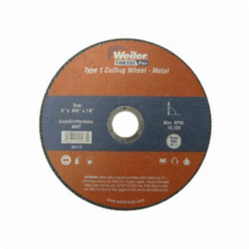 Vortec Pro®Wolverine™ 56163 Small Snagging Cut-Off Wheel, 4 in Dia x 1/4 in THK, 3/8 in Center Hole, A36T Grit, Aluminum Oxide Abrasive