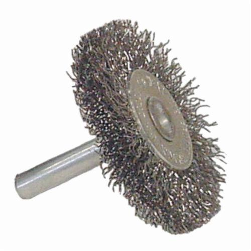 Vortec Pro® 36059 Radial Wheel Brush, 3 in Dia Brush, 0.008 in Dia Crimped Filament/Wire