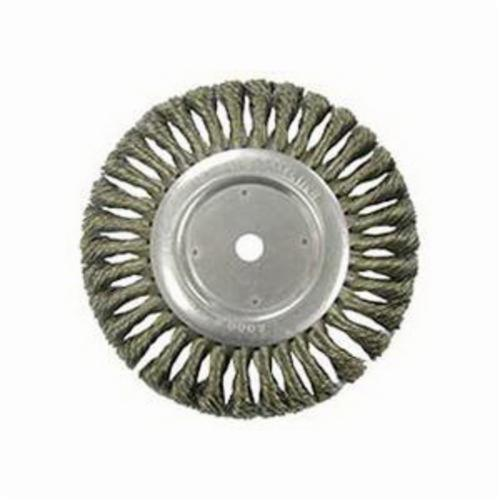 Vortec Pro® 36228 Wide Face Wheel Brush, 8 in Dia Brush, 0.014 in Dia Standard/Twist Knot Filament/Wire, 5/8 in Arbor Hole