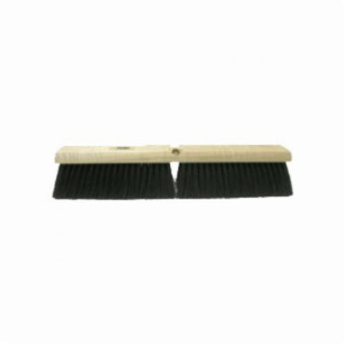 Vortec Pro® 36632 Push Broom, 18 in OAL, 3 in Trim, Fine Sweep Face, Gray Synthetic Bristle