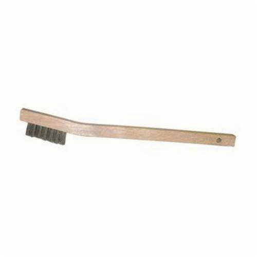 Vortec Pro® 44805 Small Handle Scratch Brush, 7-1/2 in L x 1/2 in W Block, 1/2 in Stainless Steel Trim