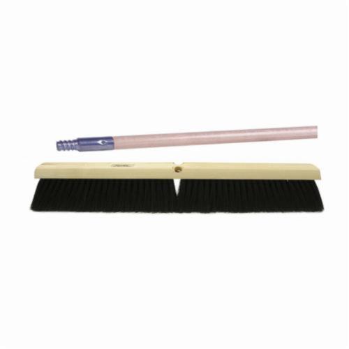 Vortec Pro® 44819 Threaded Tip Push Broom Kit, 24 in OAL, 3 in Trim, Medium Sweep Face, Black Tampico Bristle