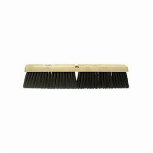 Vortec Pro® 44851 Threaded Tip Push Broom Kit, 18 in OAL, 3 in Trim, Medium Sweep Face, Gray Polypropylene/Polystyrene Bristle
