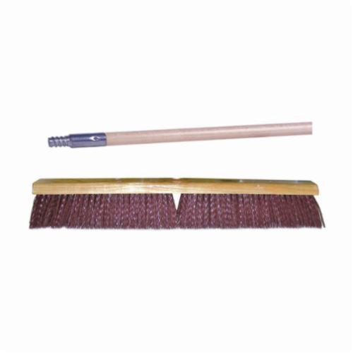 Vortec Pro® 44864 Threaded Tip Push Broom Kit, 24 in OAL, 3-1/4 in Trim, Maroon Polypropylene Bristle