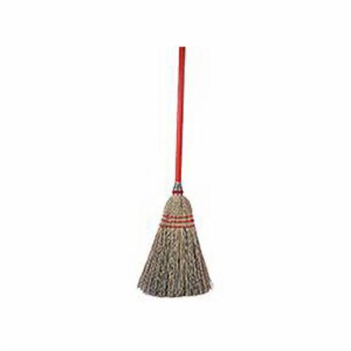 Vortec Pro® 70300 Toy/Lobby Broom, 40 in OAL, 11 in Trim, Gray Corn/Fiber Bristle