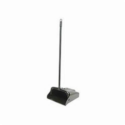 Vortec Pro® 71080 Lobby Dust Pan, 39-1/2 in L x 12 in W, Aluminum/Molded Plastic, Black